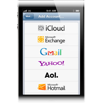 how to add u of c email to iphone