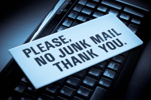 No Junk Mail Sign to Stop Spam in How to Take Back Your Email