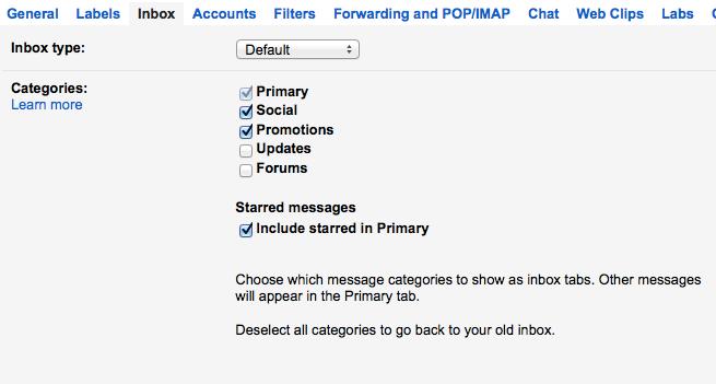 Change Google Gmail Inbox Display Type
