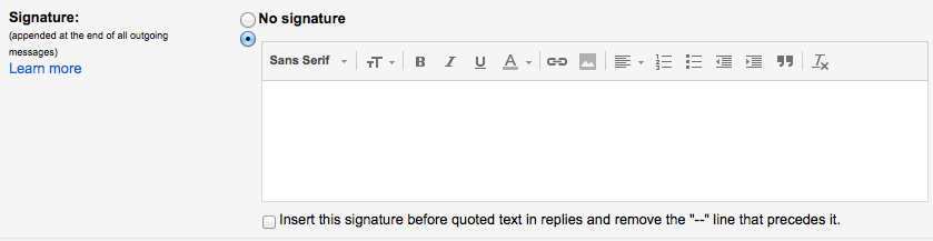 Create a Signature for your Google Gmail Email Messages