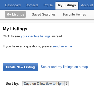 Zillow My Listings