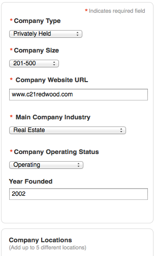 Additional Company Information for LinkedIn Company Page