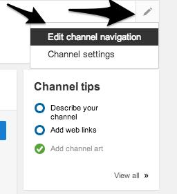 Select Edit Channel Navigation