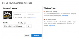 Set Up Your Channel on YouTube