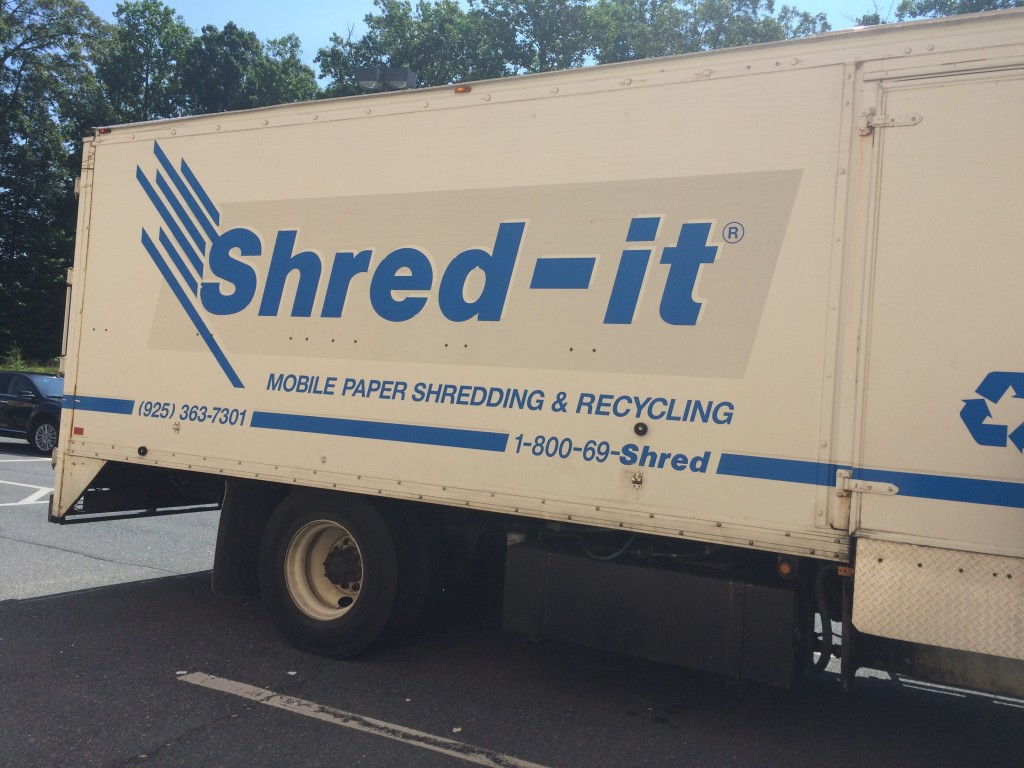 Shred It Event Truck at C21 Redwood Realty Montclair Office