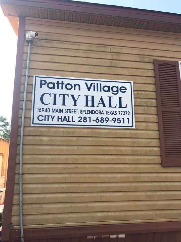 Patton Village City Hall in Splendora Texas, Hurricane Harvey Help, C21 Redwood